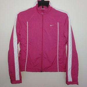 Nike Pink Zip Up Windbreaker Track Jacket Small